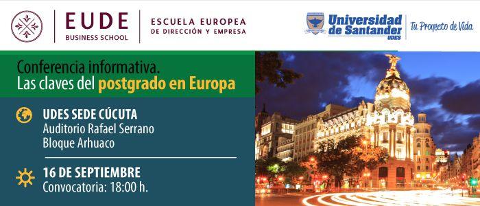 Foto - Conferencia: Estudiar un postgrado en Europa