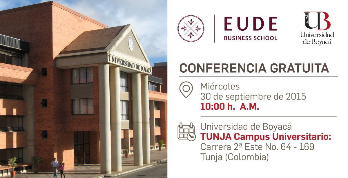 Conferencia EUDE en Universidad de Boyaca