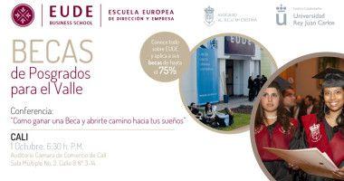 EUDE en Cali. Conferencia sobre las maestrías en Europa.