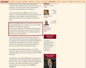 Peru considera el mejor MBA de EUDE