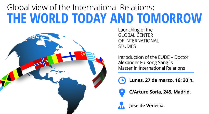 "Foto - Conferencia ""Global view of the International Relations: The World Today and Tomorrow"""