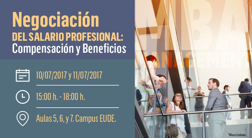 """Foto - Seminario """"Negociación de salario profesional, compensación y beneficios"""" en EUDE Business School"""