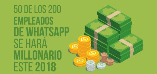 50 empleados de WhatsApp se harán millonarios