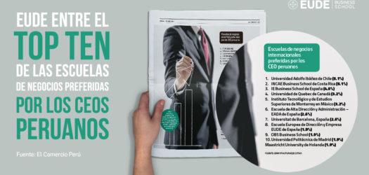 EUDE Business School considerada por los CEO de Perú mejor escuela