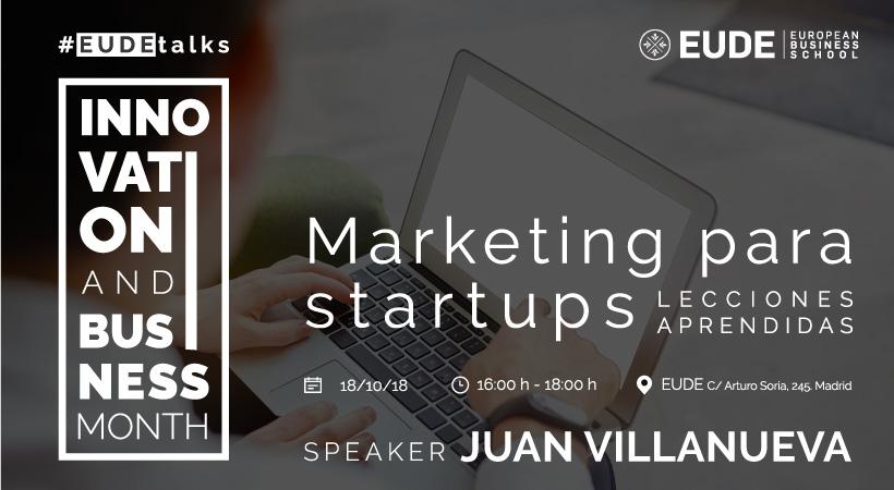 Foto - Conferencia Marketing para startups. Lecciones aprendidas