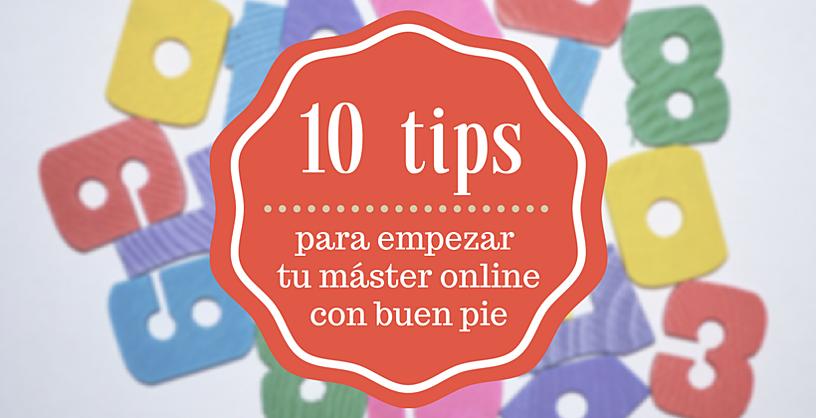 10 tips empezar máster online