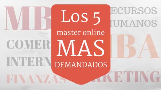 5 máster online más demandados