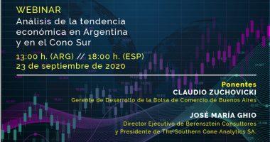 Foto de - WEBINAR | Análisis de la tendencia económica en Argentina y en el Cono Sur