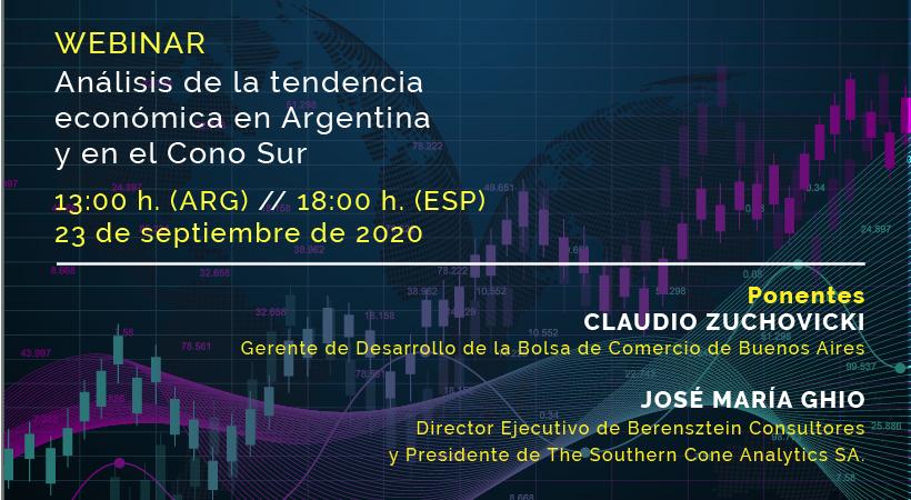 Foto - WEBINAR | Análisis de la tendencia económica en Argentina y en el Cono Sur